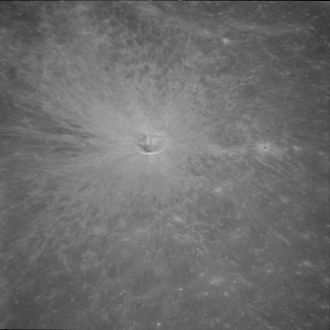 Ray system - Crater ray system on the far side of the Moon (Apollo 11 image).