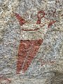 ASC Leiden - van de Bruinhorst Collection - Somaliland 2019 - 4575 - A red and white rock painting of a human figure in the caves of Laas Geel.jpg