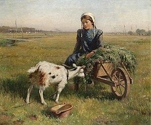 William Kay Blacklock - A Dutch Idyll, 1914