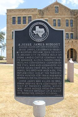 A jesse james hideout, archer city, texas historical marker (8406449248)