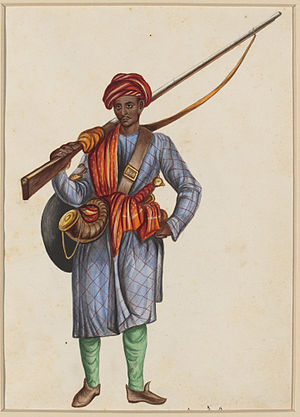 Sepoy - A Mughal sepoy, under the command of Mirza Najaf Khan.