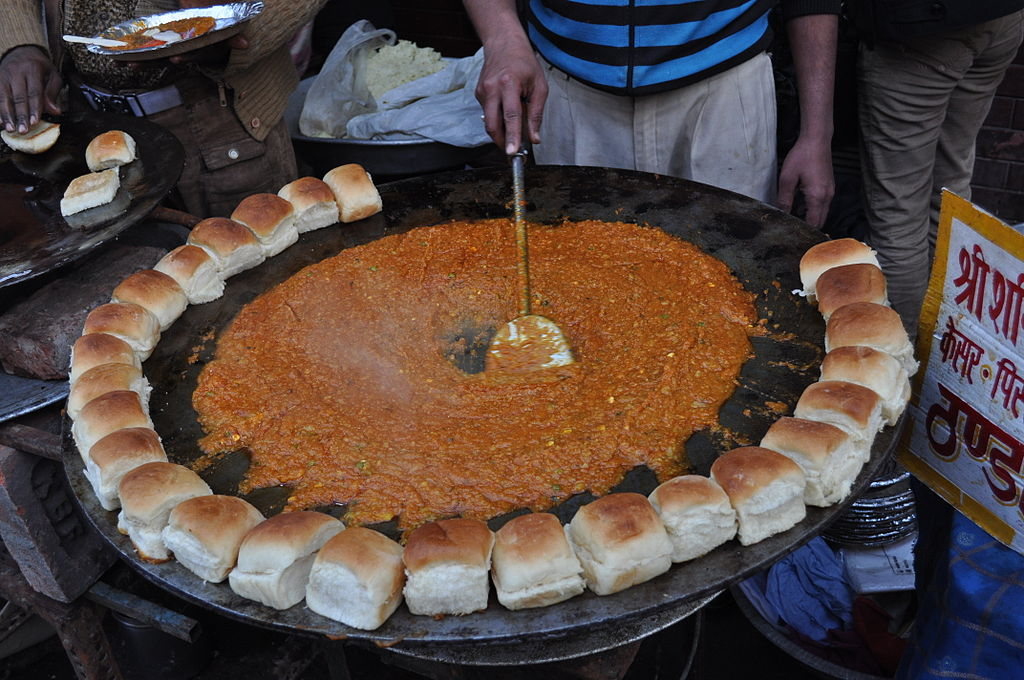 A Pav Bhaji stand at Chandni Chowk, Delhi