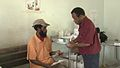 A TB patient is given daily treatment at the Mabuduan Health Centre in the Western Province - Photo AusAID (10663956573).jpg