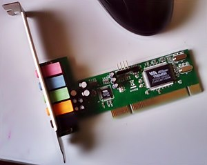 Sound card - A VIA Technologies Envy Sound Card for PC. PCI Slot 5.1 Channel