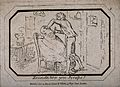 A barber shaving a man in his shop. Etching, 1804. Wellcome V0019687.jpg