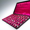 A case filled with a selection of 50 glass eye Wellcome L0036576.jpg