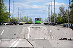 A civil bass captured on crossing Putilovskiy bridge, at Kievskiy district of Donetsk.jpg