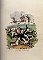 A doctor out hunting; attacked by the hounds, having fallen Wellcome V0010940.jpg