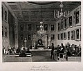 A meeting of the Royal Society at Somerset House in the Stra Wellcome V0013855.jpg