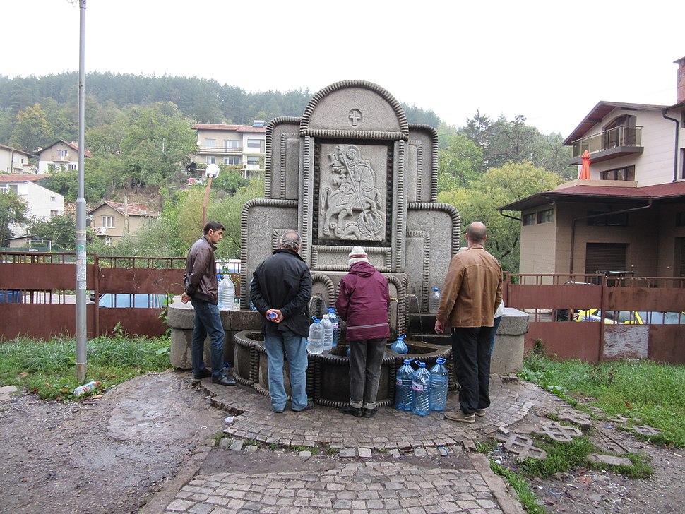 A mineral water fountain in Knyazhevo