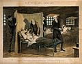 A prisoner lies dying in his bed, his life ruined by earlier Wellcome V0019428.jpg