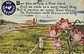 A sentiment postcard, images of a rural scene and flowers (NBY 423321).jpg