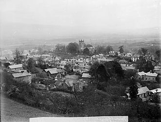 Montgomery, Powys - South view of Montgomery (1885)