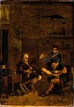 A surgeon treating a man's foot. Mezzotint after a compositi Wellcome V0017542.jpg