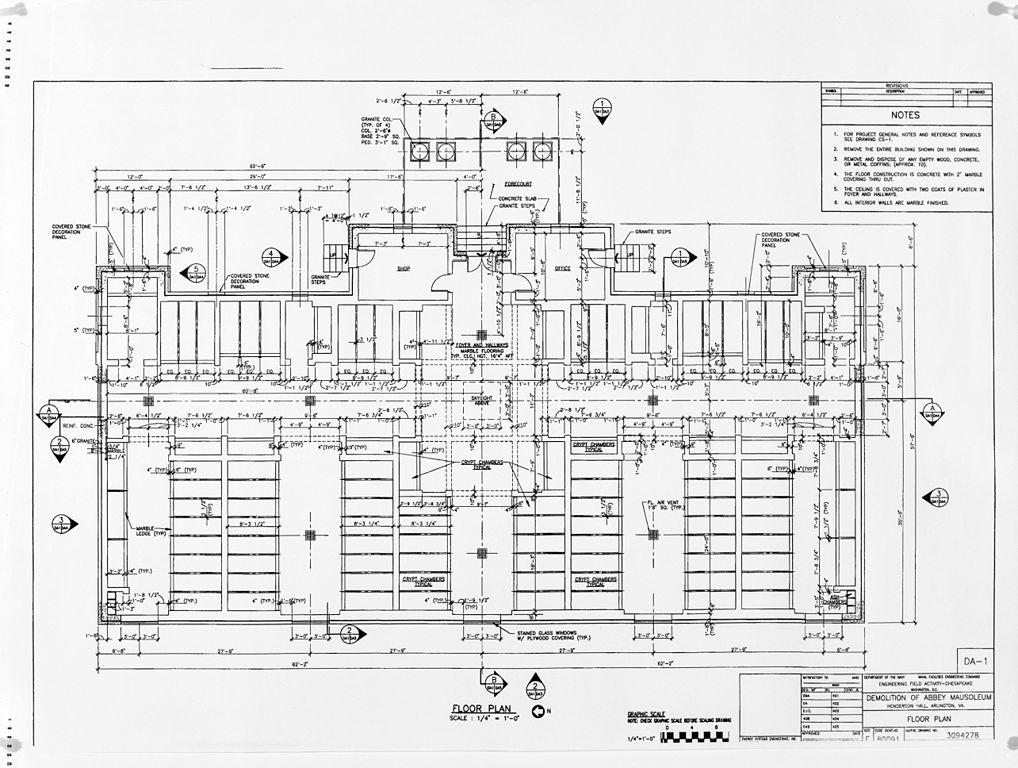 File Abbey Mausoleum Floor Plan Us Navy Facilities Engineering Command
