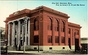 Aberdeen, Mississippi - Aberdeen City Hall (early 20th century)