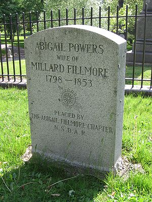 Abigail Fillmore - Gravesite of Abigail Powers, Forest Lawn Cemetery, Buffalo, New York