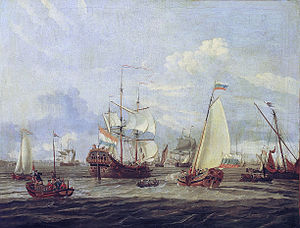 Abraham Storck - Peter the Great inspecting a ship at Amsterdam.jpg