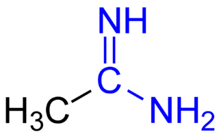 Amidine derivatives of oxoacids RnE(=O)OH in which the hydroxy group is replaced by an amino group and the oxo group is replaced by =NR