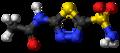 Acetazolamide 3D ball.png
