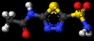 Acetazolamide - Image: Acetazolamide 3D ball