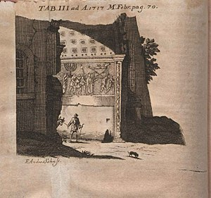 Adriaan Reland - Image from critique of Hadriani Relandi de spoliis templi Hierosolymitani published in Acta Eruditorum, 1717