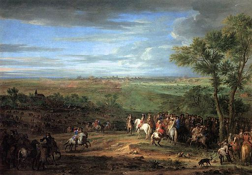 Adam Frans van der Meulen - Louis XIV Arriving in the Camp in front of Maastricht - WGA15110