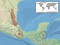 Adelphicos quadrivirgatum distribution (IUCN).png