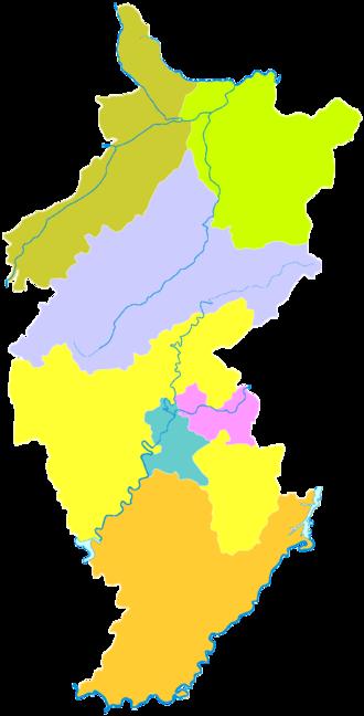 Tonghua - Image: Administrative Division Tonghua