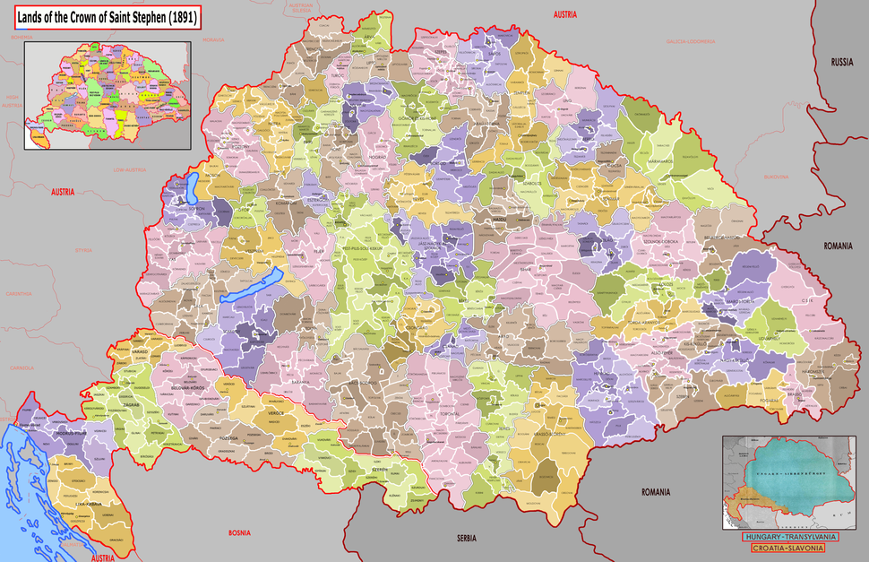 Administrative map of Hungary (1891)