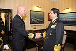 Admiral RK Dhowan and Admiral Scott Swift at South Block, New Delhi.jpg