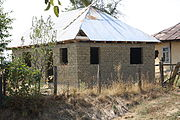 Effort adobe brick house under construction in kyrgyzstan house in sa