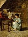 Adolf von Becker - Girl Sewing - A I 105 - Finnish National Gallery.jpg