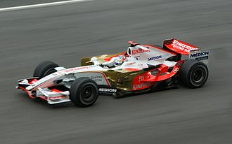 Force India - Adrian Sutil driving for Force India at the 2008 Malaysian Grand Prix.