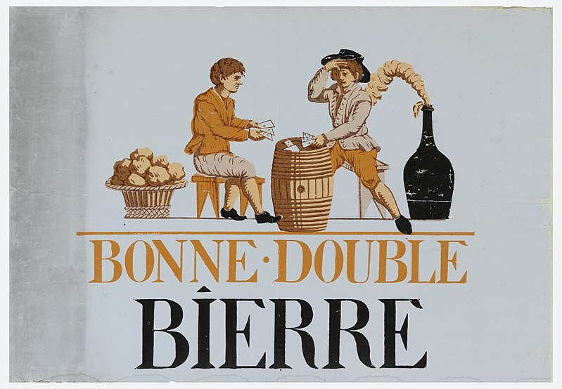 Fichier:Advertisement, Bonne-Double Bierre, 1825–35 (CH 18476611).jpg