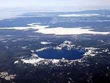 Aera vido de Kratera Lago