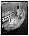 Aerial view looking forward from starboard side. - Lightship No. 83, South Lake Union Pier, Seattle, King County, WA HAER WA-175-2.tif