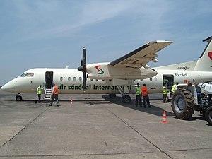 Air Sénégal International - Air Sénégal International Dash8 300 at the BJL Airport