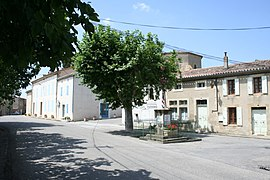 The main road in Airoux