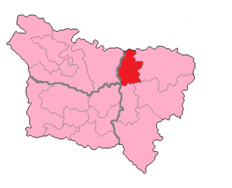 Aisne's 2nd constituency - Ainse's 2nd constituency shown within Picardie