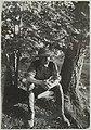 Akseli Gallen-Kallela in a khaki suit posing for his painting Cheetah at Linudd, 1911. (14542058450).jpg