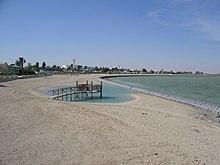 Playa en Qatar.