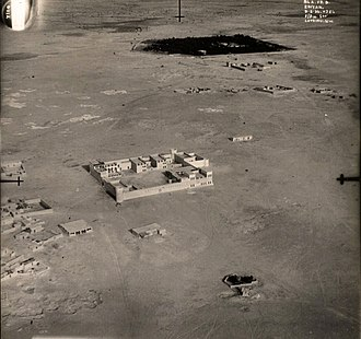 Al Rayyan (city) - An aerial photograph of Al Rayyan taken by the Royal Air Force during a reconnaissance on 9 May 1934.