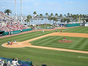 Al Lang Stadium - Baseball at the stadium - last pitch of the final spring game on March 28, 2008