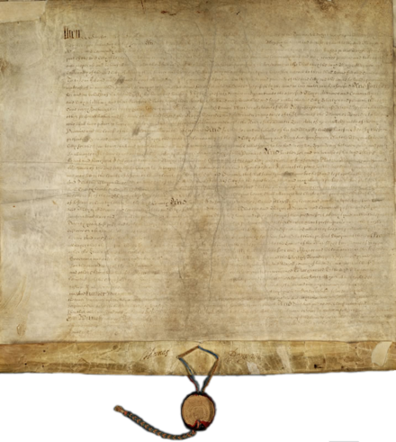 The Dongan Charter legally established Albany as a city in 1686; it is the oldest United States city charter still in effect. Albany Dongan Charter partially unfolded.png