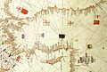 Albino de Canepa. The east of 1489 Portolan Chart. From the Black Sea at the top to the Red Sea at the bottom.C.jpg