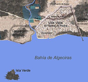 Siege of Algeciras (1278–79) - Location of the Castilian camp surrounding Al-Jazira Al-Khadra.