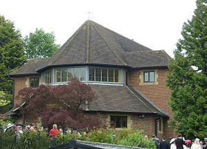 All Saints Church, Oxted - Image: All Saints RC Church, Chichele Road, Oxted (NHLE Code 1245423)