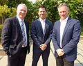 Allan Border, Ricky Ponting and Steve Waugh October 2014.jpg