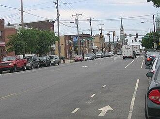 Port Richmond, Philadelphia - Allegheny Avenue looking west from Richmond Street